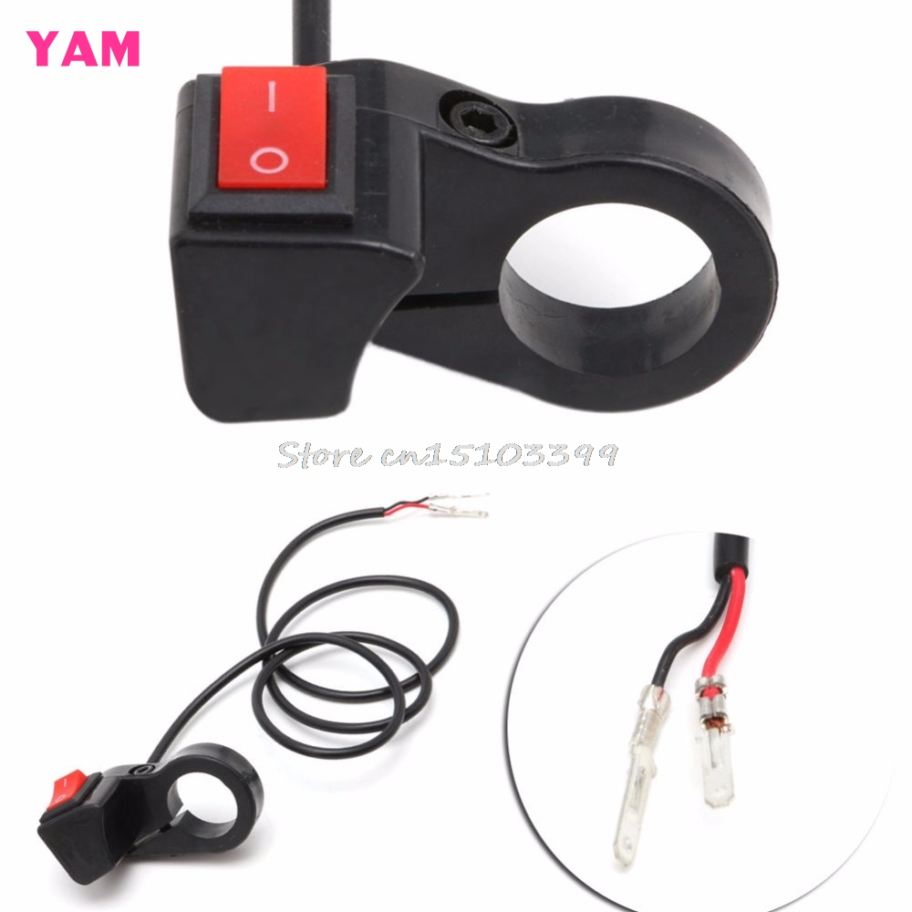 7/8'' Motorcycle Bike Scooter Handlebar ON-OFF Headlight Fog Spot Light Switch #G205M# Best Quality g126y 2pcs red led light 25 31mm spst 4pin on off boat rocker switch 16a 250v 20a 125v car dashboard home high quality cheaper