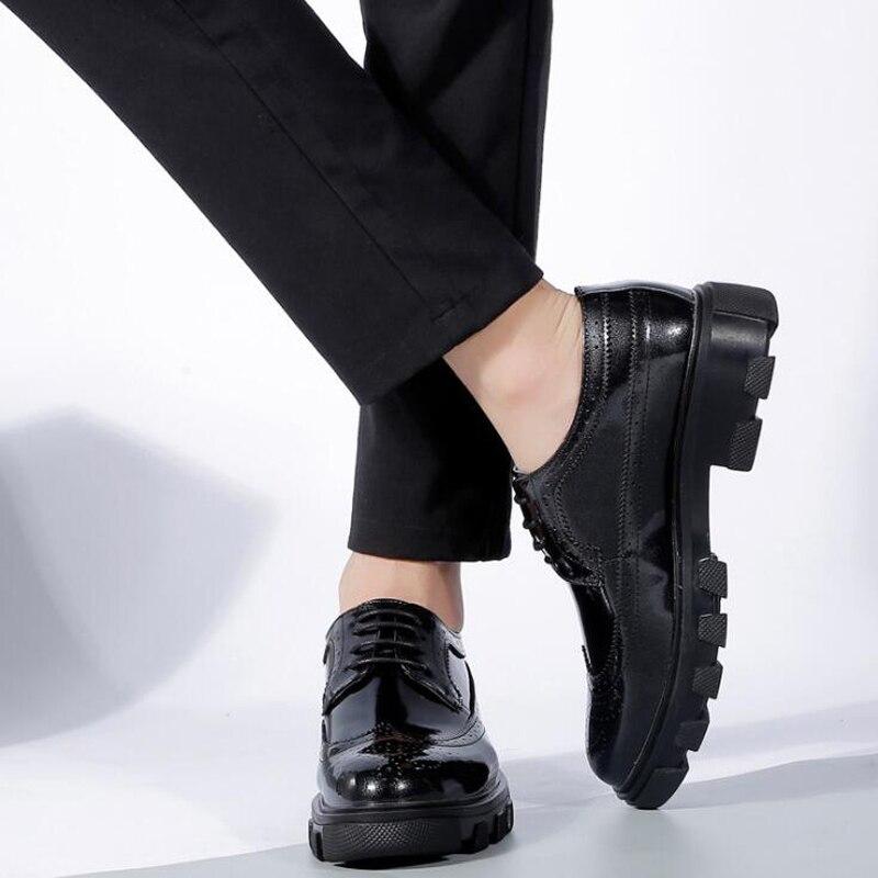 De Apartamentos Confortável Patente Casuais Couro Da Masculinos Sapatos Macio Homens Moda E Condução Mens Handmade Mocassins Black blue OUdB8wqxxH