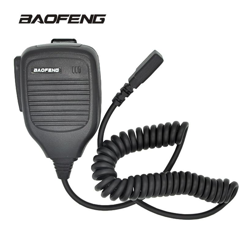 Mini Shoulder Handheld microphone for Baofeng walkie talkie UV-5R Portable two way radio Pofung UV 5RE Plus UV-B5 BF-888S UV-82