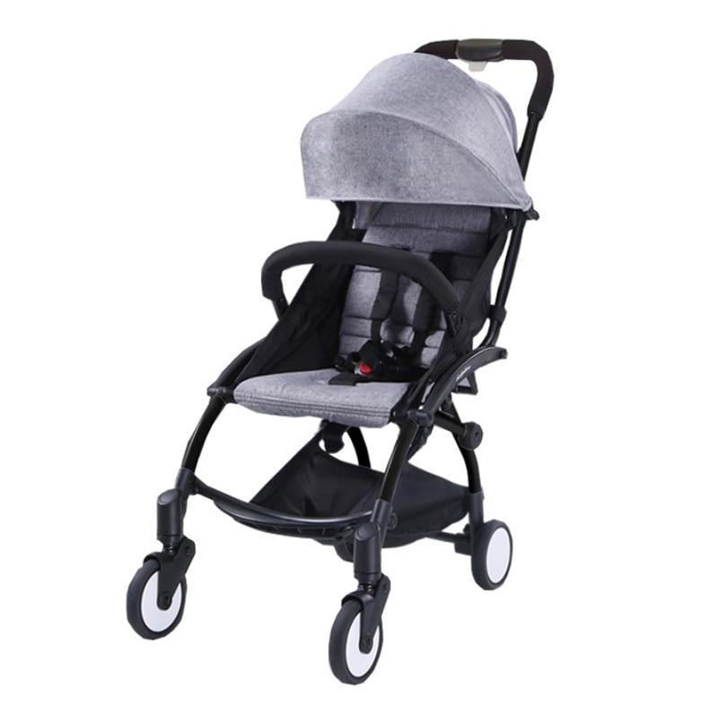 Baby Stroller Trolley Car Wagon Folding Baby Carriage Bebek Arabas Buggy Lightweight Pram Babyzen Baby Pram Pushchairs bair lightweight baby stroller high position pram trolley