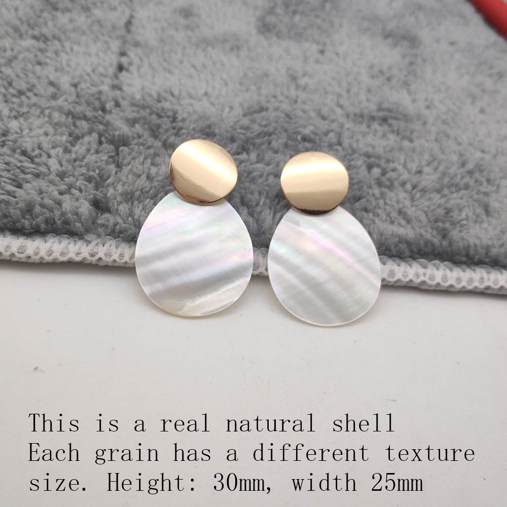 Fashion Wedding Jewelry Hanging Natural Shell Pearl Geometric Earrings High Quality Natural Shell Pendant Earrings for women P40 36
