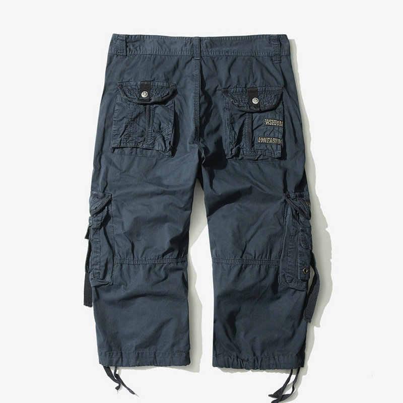 2020 di estate del Camuffamento Cargo Allentati Shorts Uomini Camo Pantaloni di Scarsità di Estate Homme Cargo Shorts Senza Trasporto di Goccia Cintura ABZ307