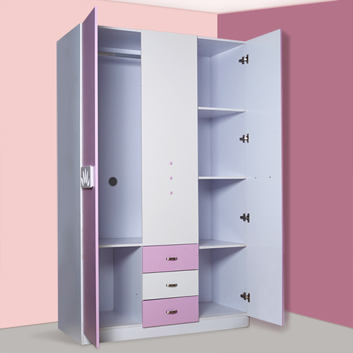 Childrens Furniture Princess Girl Wardrobe Sliding Door Closet Bedroom Three Simple Storage Container In Children Sets
