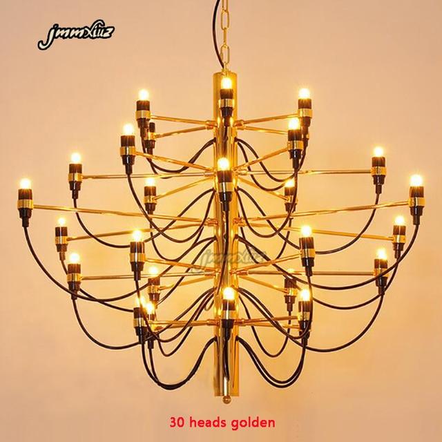 Jmmxiعداد ديكور منزلي حديث مصابيح 18/30/50 ذهبية/فضية جينو سارفيتي تصميم الثريا غرفة الطعام ضوء الغرفة