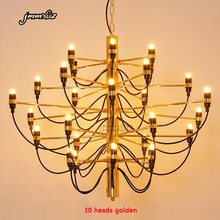 Jmmxiuz מודרני בית decorationa מנורות 18/30/50 זהב/כסף ג ינו sarfaitti תוכנן chandeliaer אוכל חדר אור את חדר