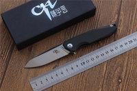 CH 3004 Newest Folding Knife Pocket Knives AUS 8 Blade Carbon Fiber Titanium Handle Camping Knife
