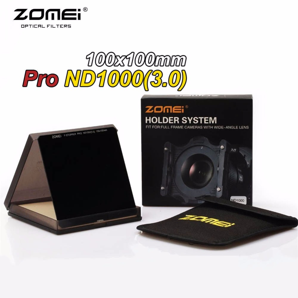 Zomei Pro 100mm ND1000 ND3.0 Square Filter 100x100mm Neutral Density 10-Stop Optical Glass Full Gray MC HD ND Filter For Cokin Z zomei pro 100mm nd1000 nd3 0 square filter 100x100mm neutral density 10 stop optical glass full gray mc hd nd filter for cokin z