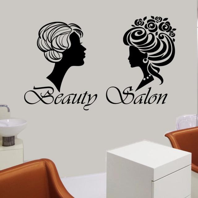 Beauty Salon Wall Decor Two Diffe Styles Of Hair Women Vinyl Art Sticker Removable
