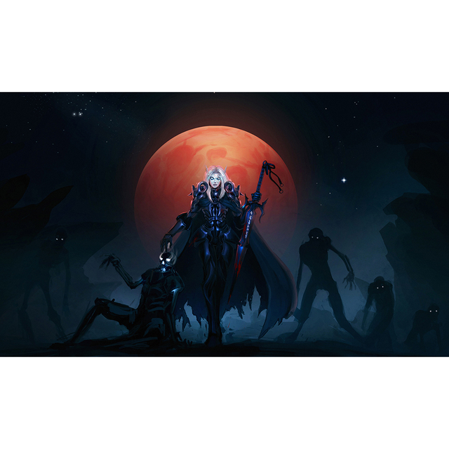 Best Quality 2mm Thick Table Pad Game WOW The Blood Moon Playmat, Board  Games Can