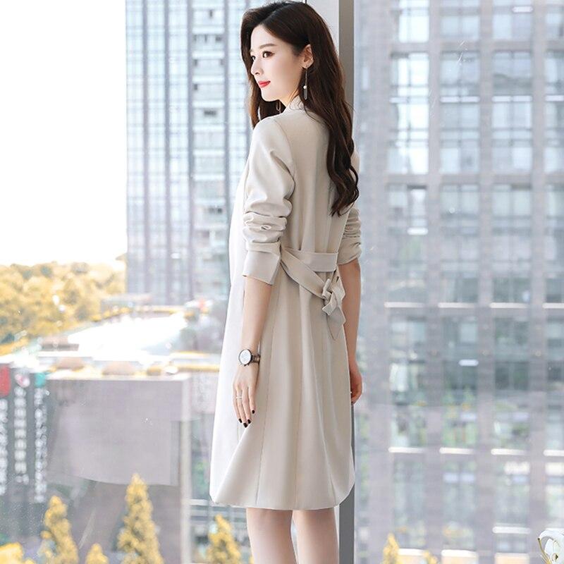 Mince Coupe Printemps Automne Mode De vent Tempérament Tranchée Manteaux Ky356 Atmosphère Digne 2019 Femmes Nouveau Coréenne red black Beige Longue IIPwq