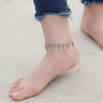 IF ME Boho Bohemia Alloy Chain Link Anklet Flower Pendant Summer Beach Ankles Foot Bracelet New Fashion Foot Jewelry For Women 5