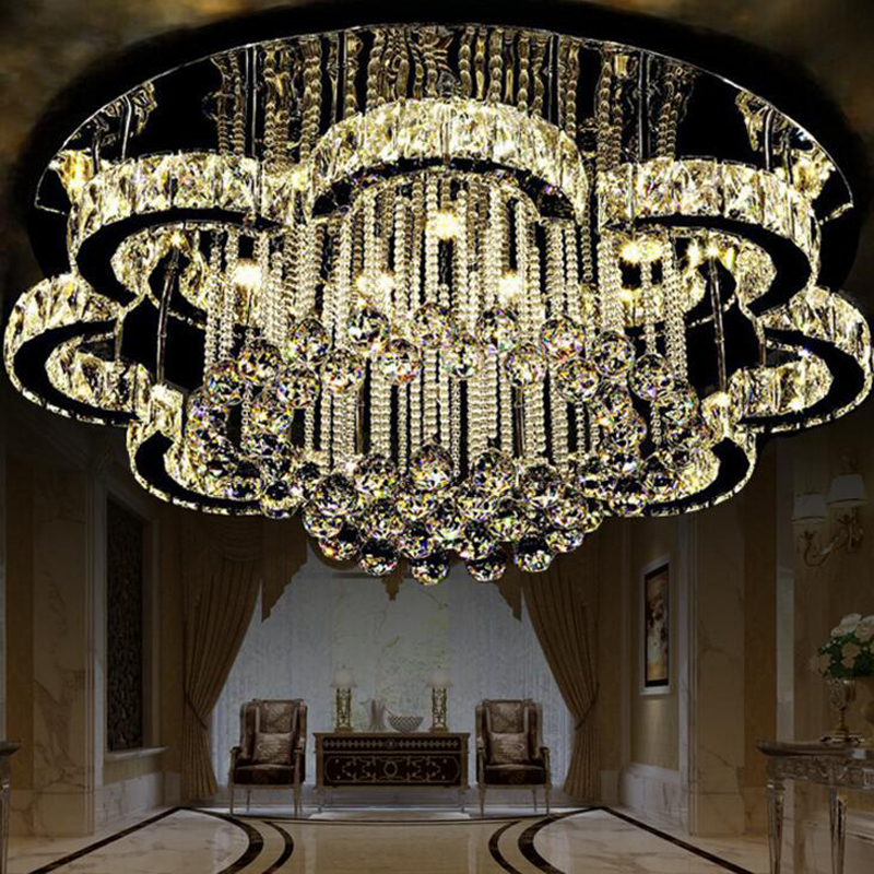 New led ceiling lamp living room lighting simple modern crystal lamp round European bedroom dining room lighting LED lighting