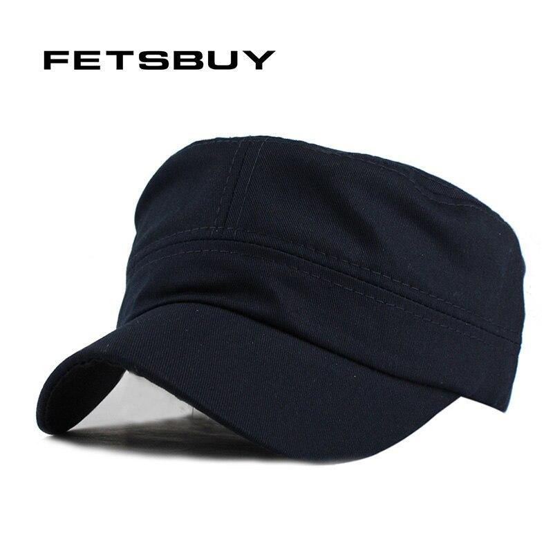 Fetsbuy gorras adulto algodón lavado de alta calidad ajustable color sólido  Militar sombrero unisex Ejército alemán gorras de béisbol sombreros ... ea66c3859a0