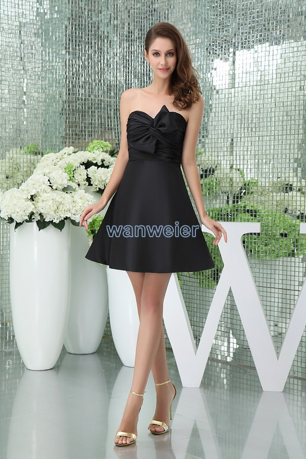 Short Black Bridesmaid Dresses Promotion-Shop for Promotional ...