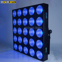 Stage Lighting Effect LED Lights 25 Head DMX RGB Color Matrix light Forced Air Convection with 4 Fans Professional Stage & DJ