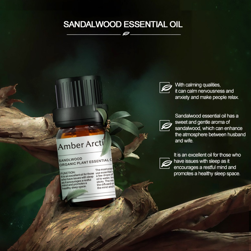 100 Natural Sandalwood Pure Essential Oil 10ml Face Moisturizer Dry Skin Anti Aging Anti Wrinkle Skin Care Meditation in Essential Oil from Beauty Health