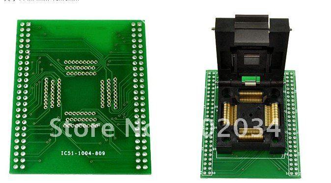100% nouveau IC51-1004 QFP100 IC prise de Test/adaptateur de programmeur/prise de rodage (IC51-1004-809)