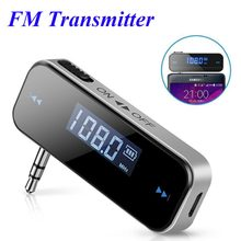 FM Transmitter Bluetooth Car Wireless 3.5mm In-car Music Audio Mp3 Player LCD Display Car Kit Transmitter For Android / iPhone(China)