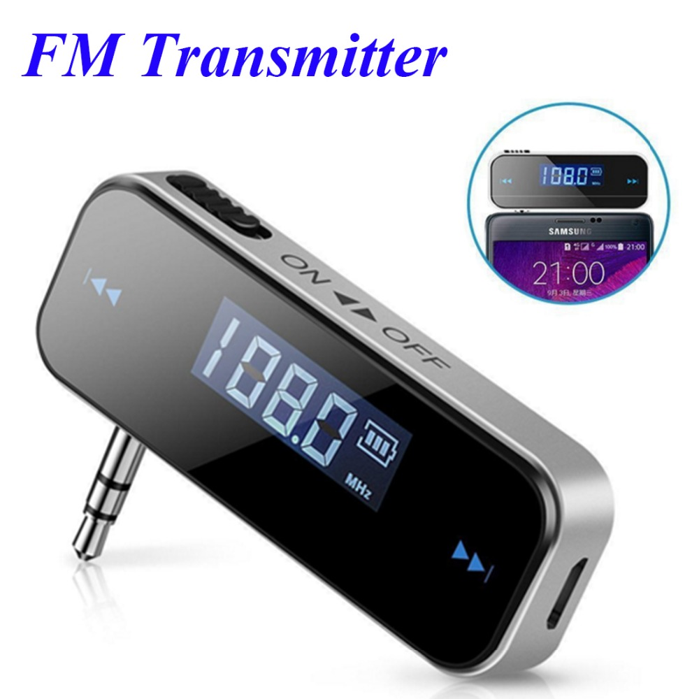 buy mini wireless in car music audio fm transmitter lcd display car kit. Black Bedroom Furniture Sets. Home Design Ideas