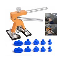 PDR   Tools   Golden Dent Lifter for Car Dent Removal kit Paintless Dent Repair auto car dent removal with 10pcs puller tabs