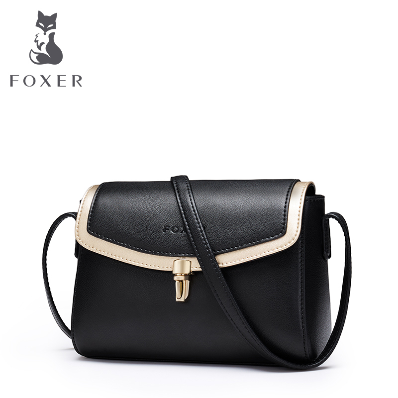 FOXER Brand Women Shoulder Bag Cow Leather Crossbody Bag for Female Messenger Bag Lady New Fashion Flap Valentine's Day Gift foxer brand women s bag fashion chain embossing cow leather crossbody bag messenger bag for women female shoulder bags