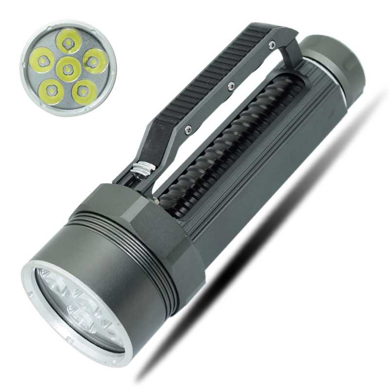 Diving Flashlight Powerful 6x XM-L2 LED Diving Torches Underwater Scuba Flashlights Dive Light Torch lamp 26650 32650 Flashlight powerful led cree xm l l2 diving flashlight underwater lights lamp hunting scuba flashlights 26650 or 18650 rechargeable battery