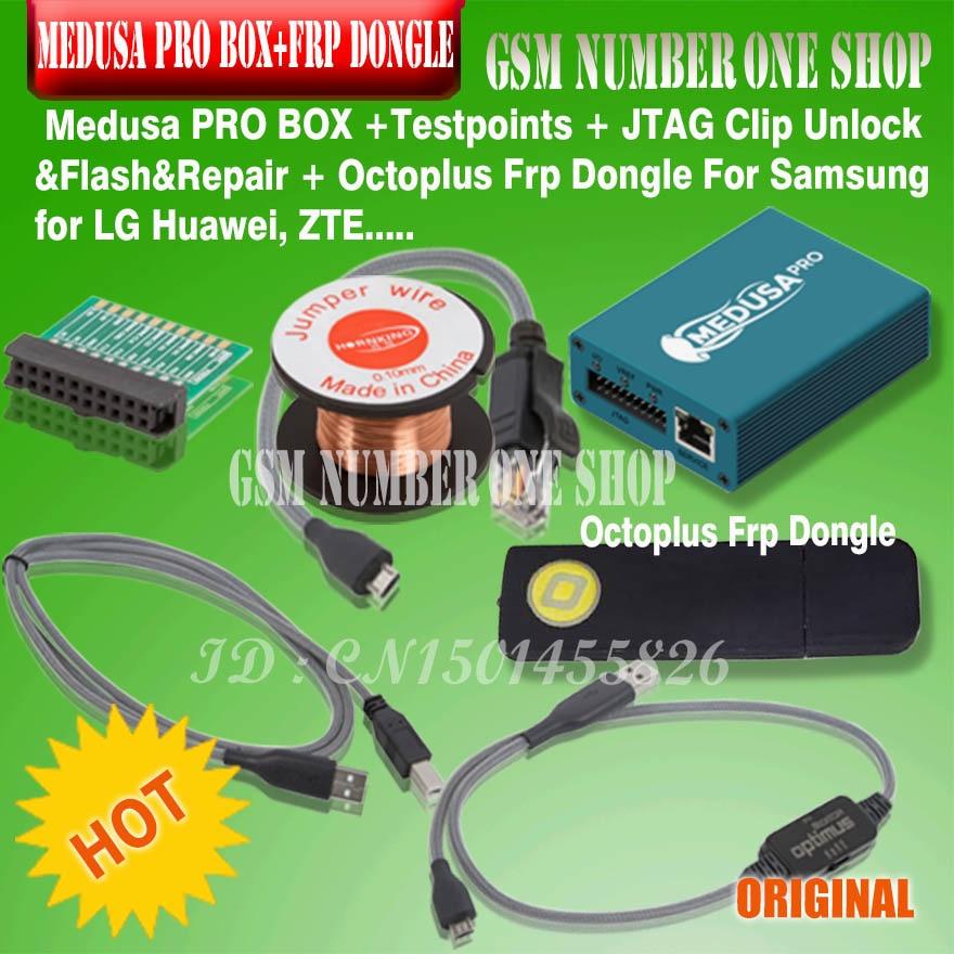 Nouveau medusa pro coffret Medusa coffret + octoplus frp dongle + JTAG Clip MMC pour LG pour Samsung pour Huawei ZTE avec câble Optimus