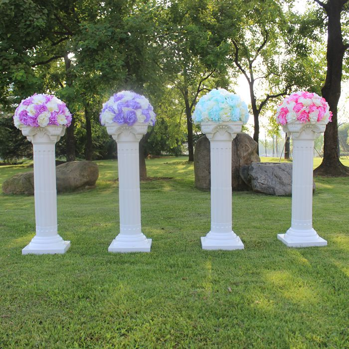 4/pcs disassemblability Photography Props Plastic Roman Pillars Column Pedestal Party Decoration Wedding Road Lead.sent via EMS