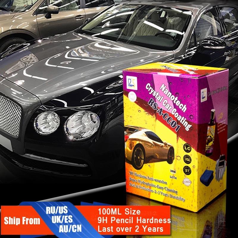 Rising Star RS-A-CC01 Liquid Glass Nano Ceramic Car Care Coating Hydrophobic Pro Crystal Car Coating 100ml Kit for DIY user