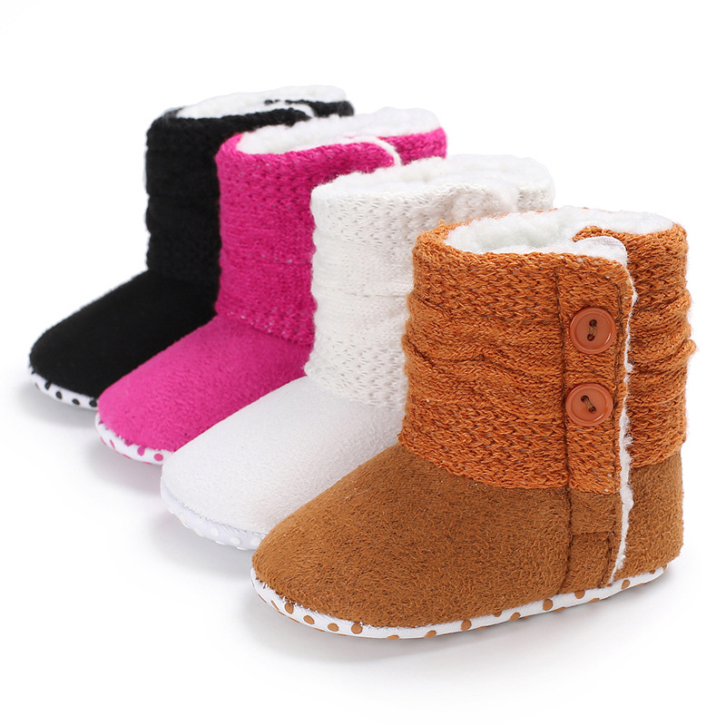 Winter Baby Girls Snow Boots Soft Sole Infant Toddler First Walkers Worm Fleece Booties Hot Sale