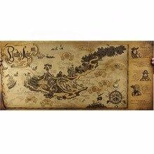 1 шт. Классическая крафт-бумага Пиратская Карта для школы и офиса