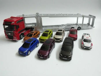 1:50 Diecast Model for Set of 9 Honda 15th Anniversary (Dongfeng truck, CRV, XRV, URV, CIVIC, Jade, Spirior etc) Alloy Toy Car