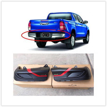 FOR HILUX REVO BODY KITS 4X4 AUTO ACCESSORIES REAR BUMPER COVER FIT FOR HILUX REVO PICKUP CAR 2015-2017 abs material blcak color trd style front grille for 2015 2017 hilux revo