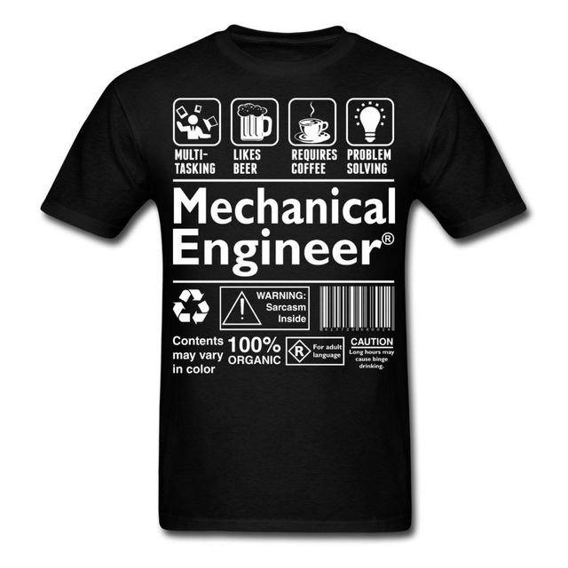 Definizione Stampa Shirt Ingegnere Cartoon T Da Meccanico Uomo LUGSMVqzp