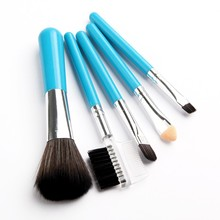 Romantic Bear Professional Makeup Brushes 5pcs tools Pink /Blue 2 Colors for Eyebrow Face Lips 100sets/lot DHL free
