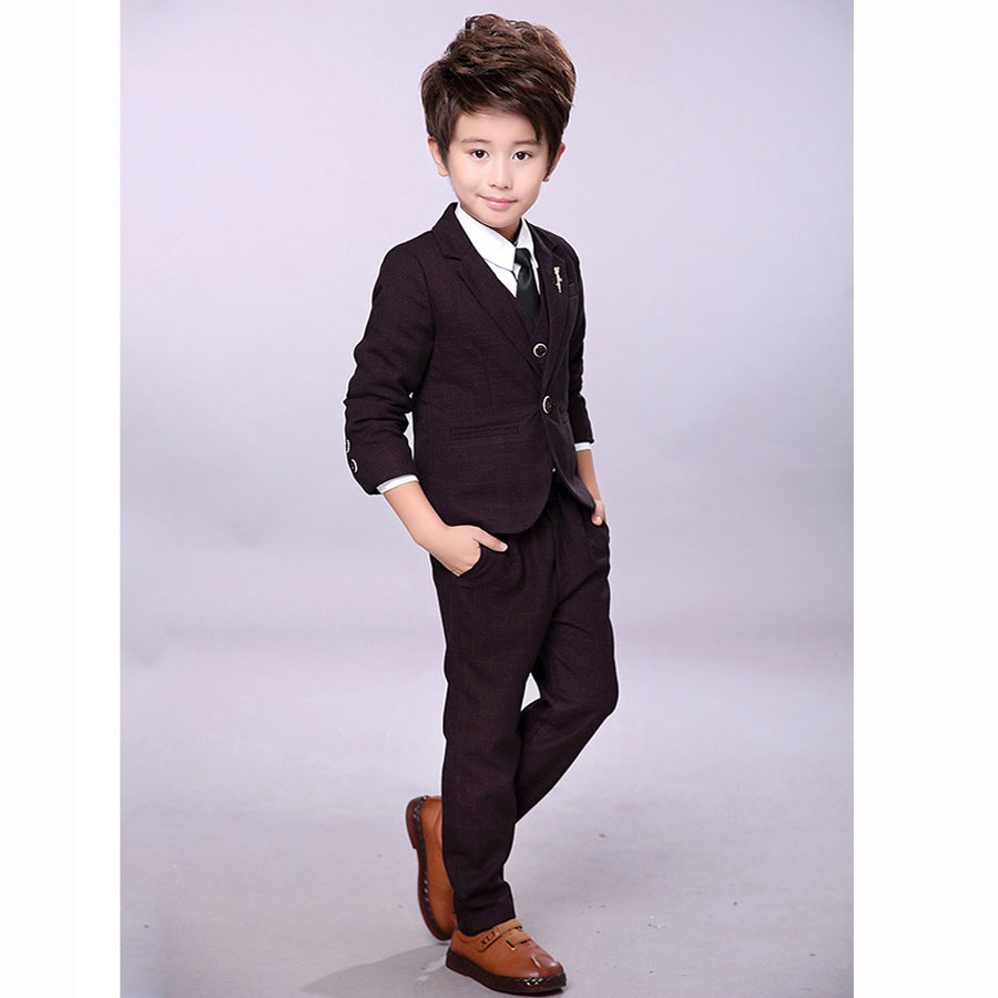 9cdb1e119 Kindstraum Kids Formal Clothing Sets Boys Wedding Suits Plaid 3pcs  Blazer+Vest+Pant Gentleman. sku: 32840112167