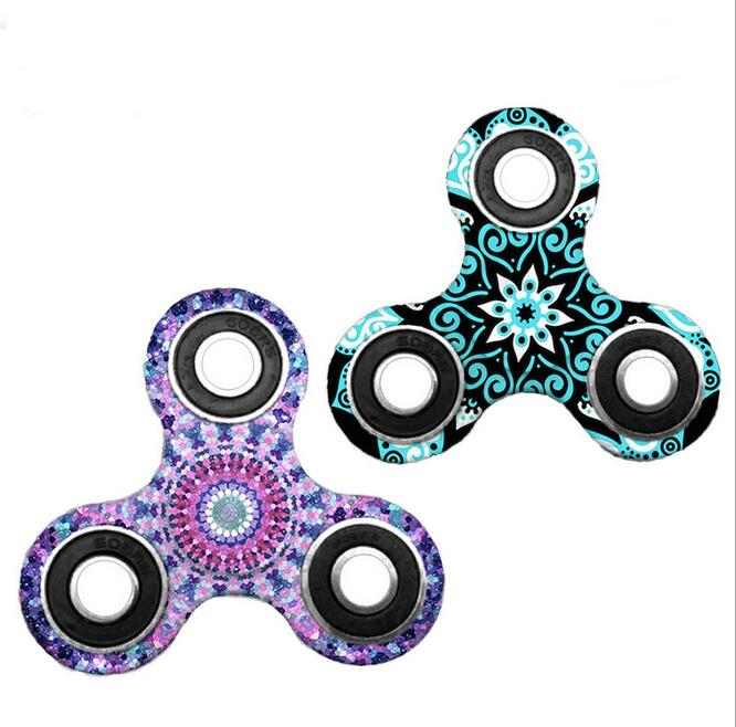 Ainbow Brass Spinner Finger ABS EDC Hand Spinner Tri For Kids Autism ADHD Anxiety Stress Relief Focus Handspinner Toys