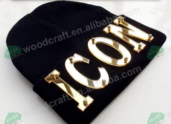 Custom caps Arylic ICON custom hat 3d letters Stud Rivet Hip hop Hat   beanies   knitted caps