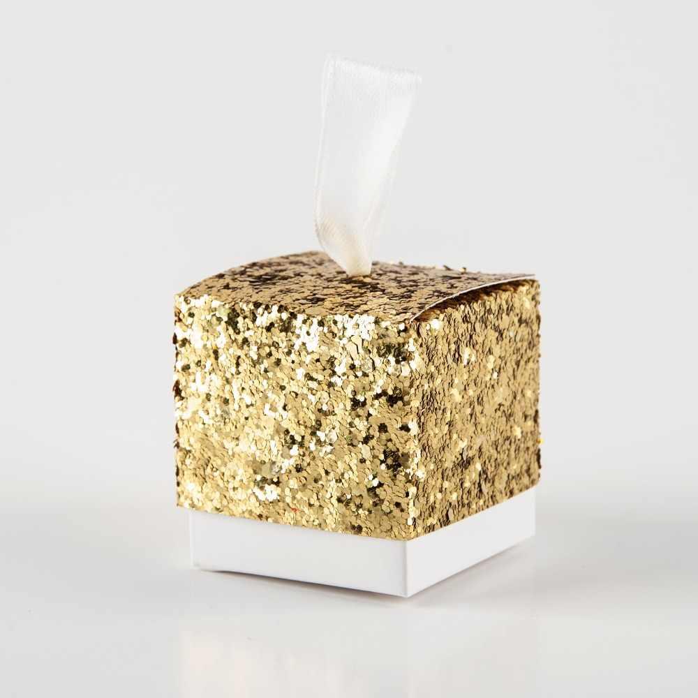 50 шт шикарная Подарочная коробка с блестками подарочная упаковка Сладкая сделай