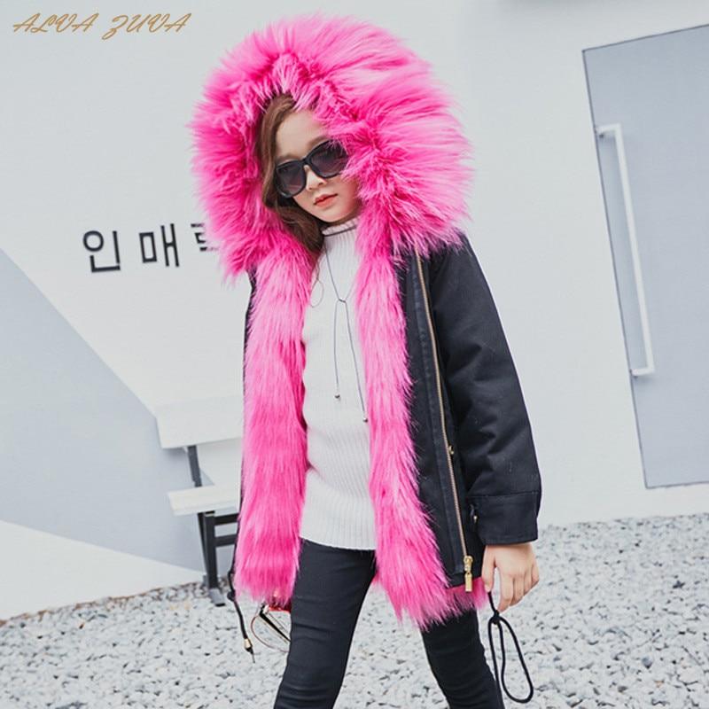 Children Fur Jackets Boys Girls Faux Fur Parkas Coat Winter Thicken Warm Coat Kids Hooded Outerwear Cyy330 все цены