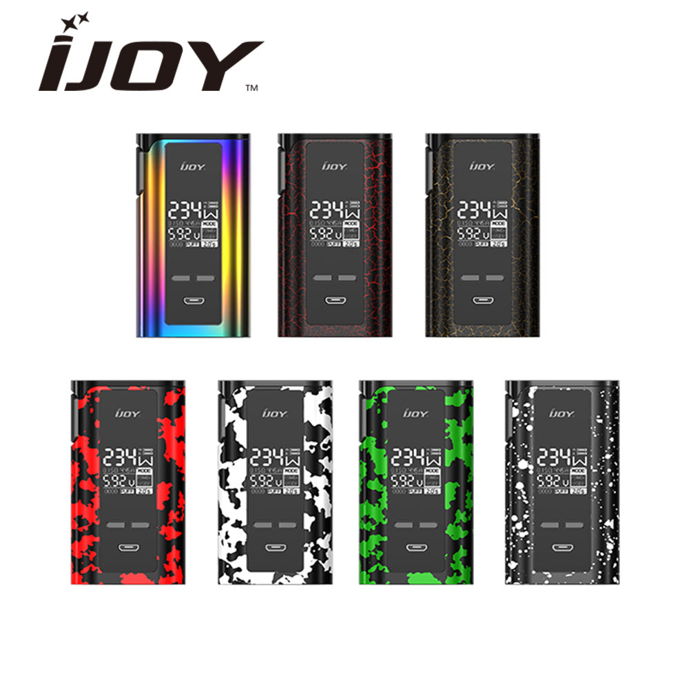 IJOY Captain PD270 234W TC BOX MOD New Color with 0.96-inch OLED Huge Display 234W Max Output No 18650 Battery E-cig Box Mod 234w ijoy captain pd270 tc box mod