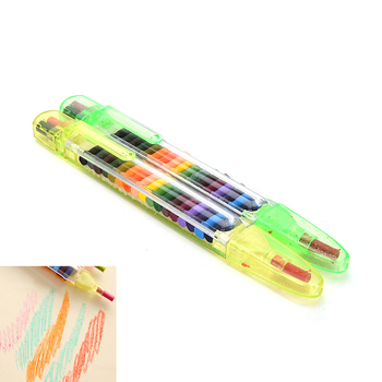 1 Set Pop up Crayons Stacker Pencils Drawing Crayon Graffiti Pen Gift for Children Kids Oil Pastel Crayons Pen 20 Colors