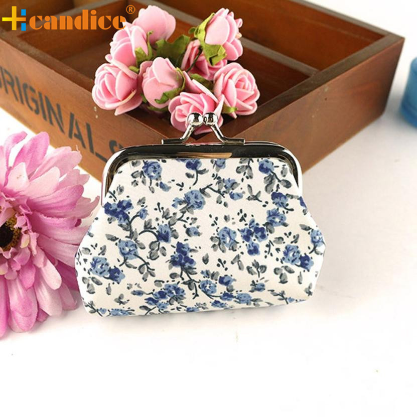 Naivety Hasp Coin Purse Lady Mini Vintage Flower Wallet Floral Printing Women Clutch Bag Good Gift New JUL28 drop shipping naivety 2016 new fashion dot lady mini linen card holder coin purse woman clutch bag jul4 drop shipping