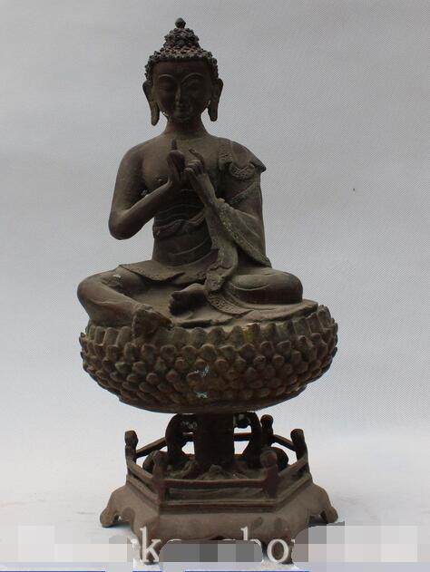 13 Old Tibet Buddhism Bronze Seat Shakyamuni Amitabha Buddha Sakyamuni Statue13 Old Tibet Buddhism Bronze Seat Shakyamuni Amitabha Buddha Sakyamuni Statue