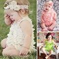Rendas Ruffle Roupa Do Bebê Cintas Fita Arco Macacão de Bebê Colorido Traje Criança Meninas Moda Romper Do Bebê