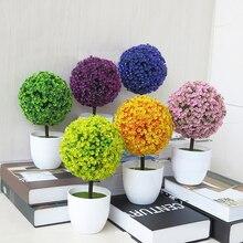 Новые искусственные цветы, украшения в горшках для украшения дома, отель, сад, Декор, бонсай, искусственные растения, бонсай, маленькие горшки для деревьев