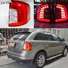 مصباح LED للسيارة مكون من قطعتين لإضاءة خلفية للسيارة ford edge 2011 2012 2013 2014 أضواء خلفية LED للسيارة مصباح إضاءة خلفية led للتثبيت والتشغيل