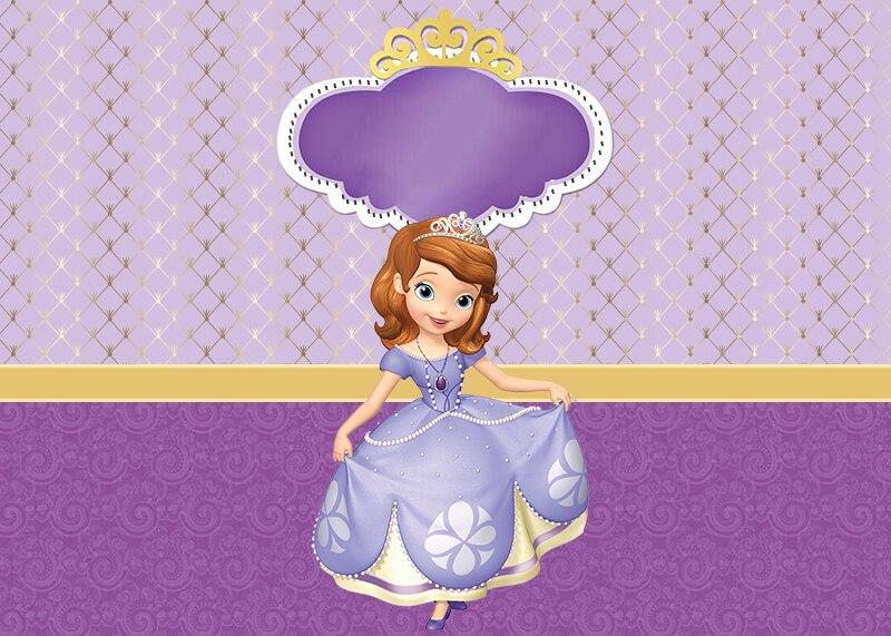 Sensfun Purple Theme Princess Photography Backdrop For Little Girls Custom Text Birthday Party Backgrounds For Photo Studio