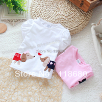 Free Shipping Retail Novelty 2013 Baby Summer Clothes Baby Short Sleeve Kids Tops Girl T Shirts
