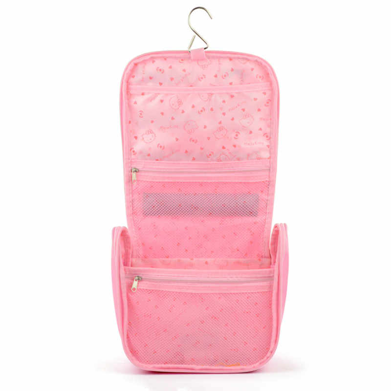692f91a693 ... Hello Kitty Toiletry Shower Bag With Hanging Hook Cosmetic Make Up  Organizer Bag With Mesh Pocket